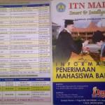 Pendaftaran Mahasiswa Baru ITN Malang : Penting!!! Calon Mahasiswa Baru ITN Harus Baca