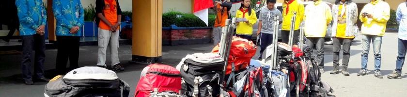 Rektor ITN Malang Melepas HIMAKPA ke Semeru