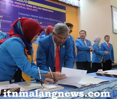 Dr. Ir. Lalu Mulyadi, MT Pejabat Baru Harus Bahu Membahu Majukan ITN Malang