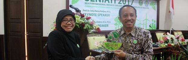 Wakil Rektor I ITN Malang dalam SENIATI 2017