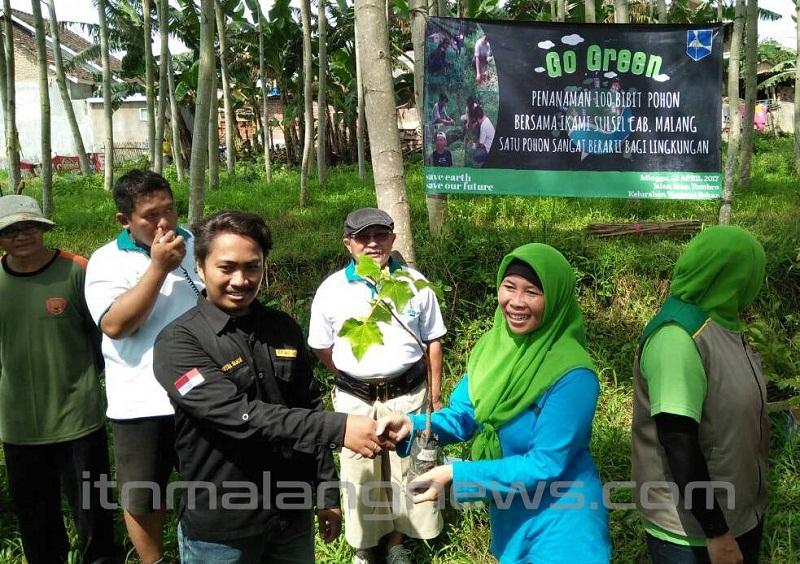 Hijaukan Bamboo Mewek, Mahasiswa ITN Malang Rayakan Hari Bumi