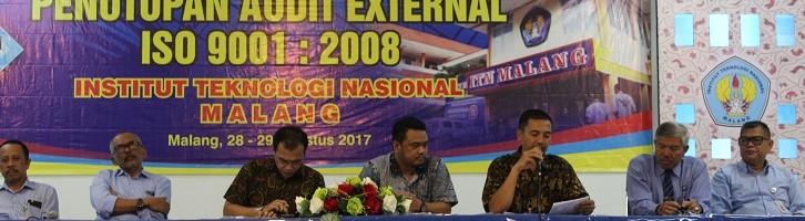 Auditor ISO 9001 2008 Minta ITN Malang Siap Konversi Ke Bentuk Terbaru
