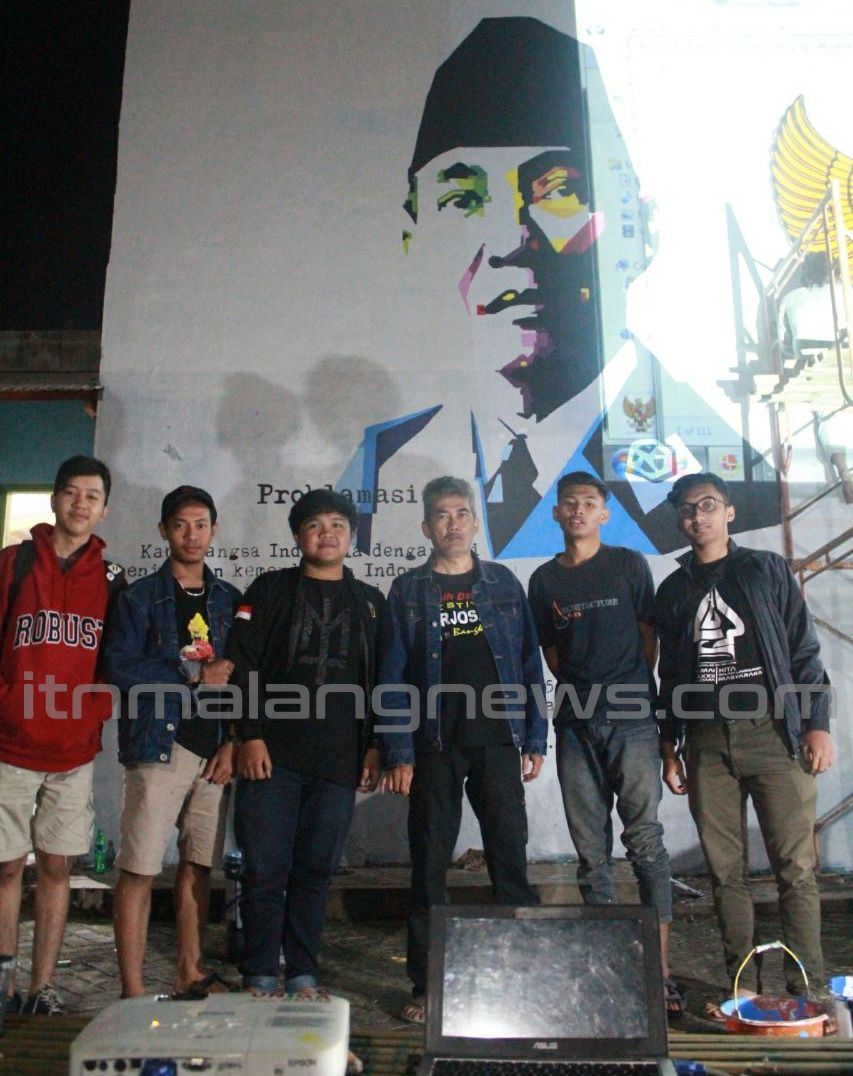 Mural Kebhinekaan Karya HMA ITN Malang Semarakkan 17 Agustusan