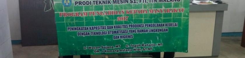 Dosen ITN Malang Ciptakan Mesin Pengupas Kulit Kedelai Ramah Lingkungan Dan Higinis