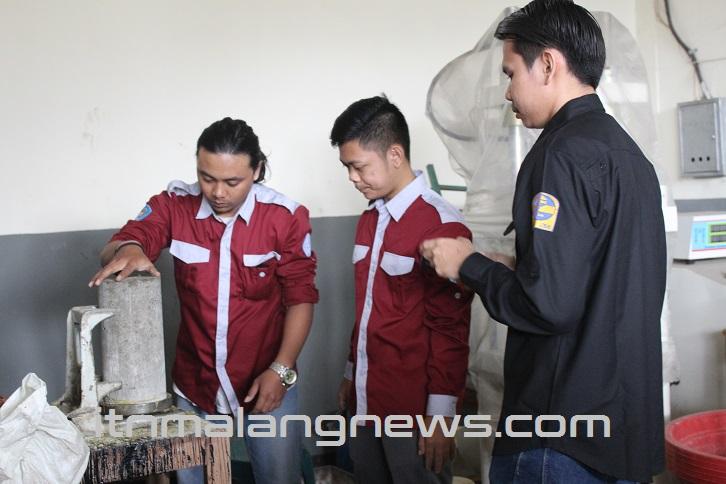 Lomba Kuat Tekan Beton Tingkat Nasional ITN Malang Berjalan Lancar