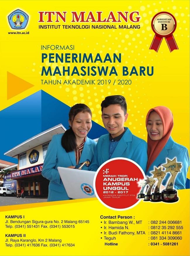 Brosur Penerimaan Mahasiswa Baru ITN Malang 2019 2020