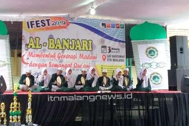 IFEST 2019 Meriahnya Festival Solawat Al-Banjari di ITN Malang