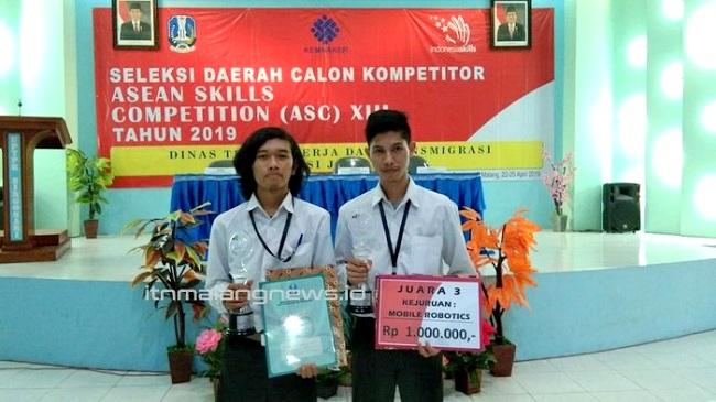 Kenekatan Mahasiswa ITN Malang Berbuah Juara pada Seleksi Daerah ASEAN Skill Competition 2019