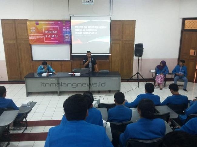 Mahasiswa Teknik Mesin D-3 ITN Malang Sharing K3 Bareng Alumnus