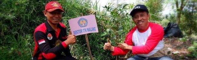 Ulang Tahun Baskomas, ITN Malang Tanam Pohon di Coban Rais