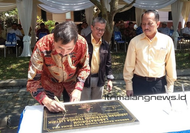 Peresmian Laboratorium Jaringan Distribusi Tenaga Listrik Sumbangan Alumni ITN Malang
