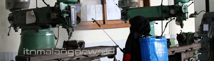 ITNMalang Sterilkan Kampus untuk Antisipasi Penyebaran Corona