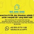 """We Are One"" Fakultas Teknologi Industri ITN Malang Care Center 085331731199"