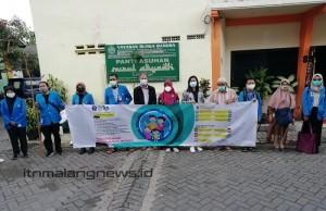 Duta Mahasiswa Satgas Covid-19 ITN Malang Kampanyekan 3M