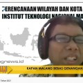 Kaprodi PWK ITN Malang Dr. Agung Witjaksono, ST MT saat menjadi pembicara dalam acara Ijen Talk, City Guide 911 FM