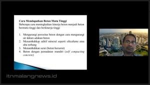 Kontruksi Banyak Gunakan Beton, Teknik Sipil ITN Malang Dorong Mahasiswa Inovasi Teknologi Beton