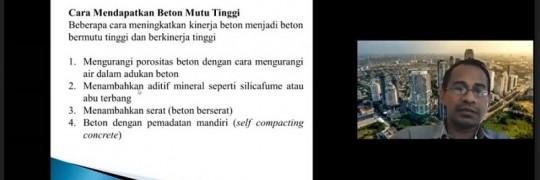 Dr. Yosimson P Manaha, ST., MT dosen Teknik Sipil ITN Malang Ahli Bidang Rekayasa Struktur, memberikan kuliah tamu Ecive 2021