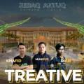 M-Khafid-Kadafi-Muhammad-Mansur-dan-Rahmat-Febriansyah-mahasiswa-Arsitektur-ITN-Malang-dengan-latar-belakang-desain-Gapura-Universitas-Mataram-732x366