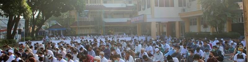 ITN Malang dan Masjid Muhajirin Kembali menggelar salat Idul Fitri di halaman Rektorat Kampus 1 ITN Malang