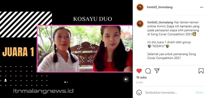 KOSAYU Duo juara 1 Song Cover Competition 2021 Himpunan Mahasiswa Teknik Industri D3 ITN Malang