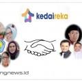 Tim program Matching Fund Kedaireka ITN Malang (kiri) bersama Kepala Desa Sumberejo Kota Batu dan tim badan usaha milik desa (Bumdes) Barokah sebagai mitra