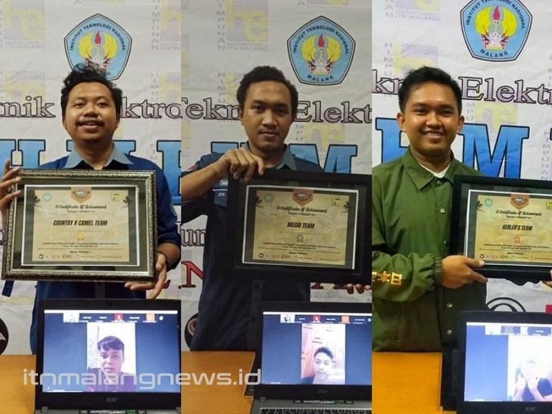 Penyerahan hadiahdan piagam Turnamen Mobile Legend Elektro Cup Dies Natalis Teknik Elektro S-1ITN Malang.