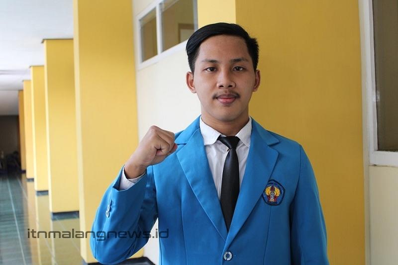 Lalu Moch Syarif Hidayatullah, lulusan terbaik Teknik Mesin D-3 ITN Malang pada wisuda ke-66 periode II tahun 2021