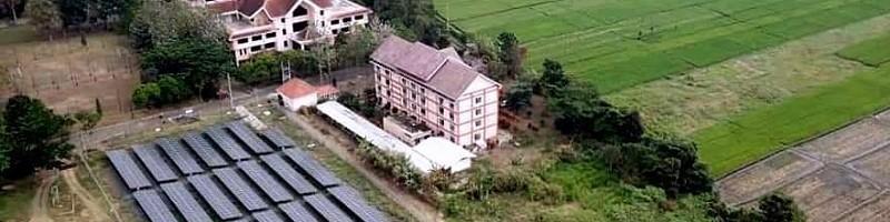 Pembangkit Listrik Tenaga Surya (PLTS) 500 KWp0,5 MWp yang berlokasi di Kampus 2 ITN Malang terbesar skala perguruan tinggi di Pulau Jawa